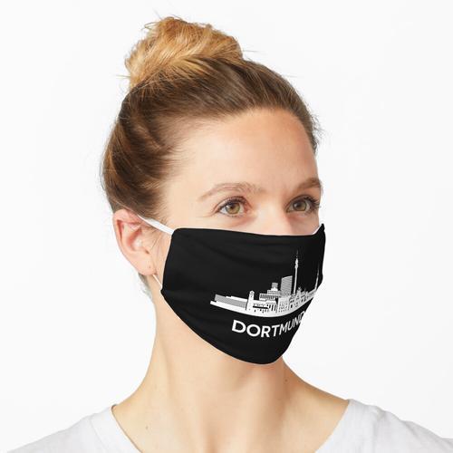 Dortmunder Skyline, weiß Maske