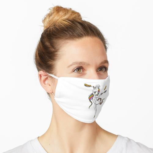 Einhorn-Koch, der Koch kocht Maske