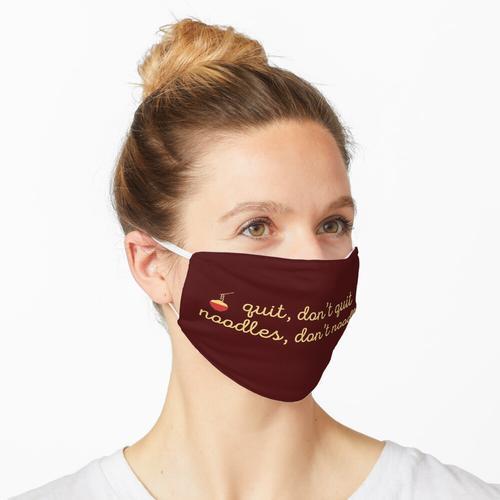 Nudeln, keine Nudeln Maske
