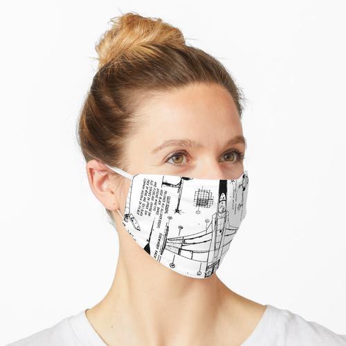 GEHEIMBLAUER DRUCK F20 Maske