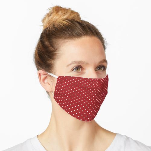 Gepunktetes Rot Maske