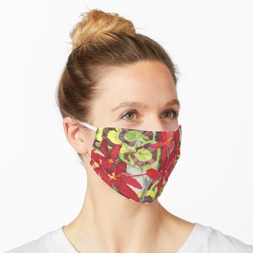 Rote Pelargonien in Alameda Maske
