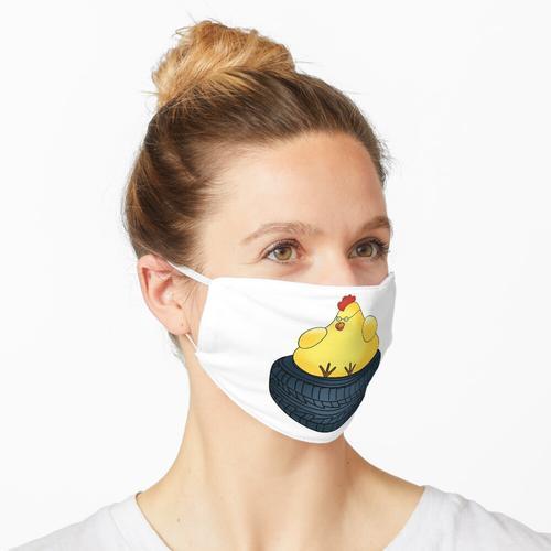 Fette Henne auf Reifen Maske