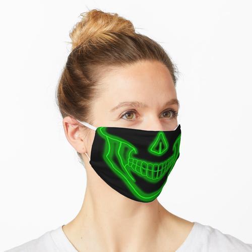 MASCARA CAVEIRA NEON VERDE Maske