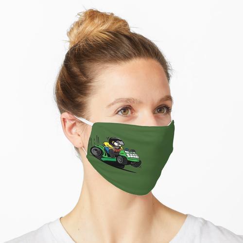 Cartoon-Reit-Rasenmäher-Traktor Maske