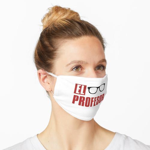 Der Professor der Professor Red Text Maske