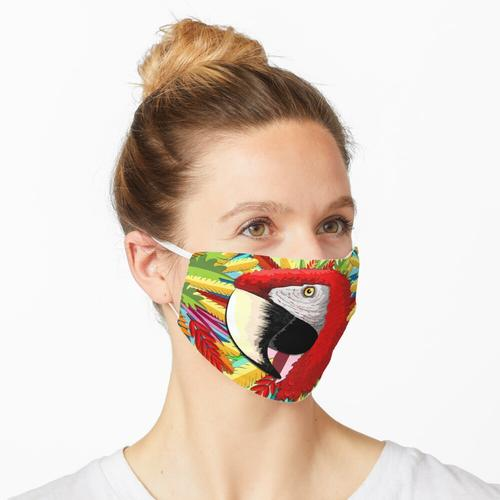 Macaw Papagei Papiermodelle Maske