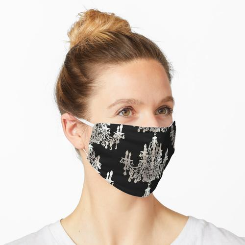 Kristallleuchter, Faux Silber Maske