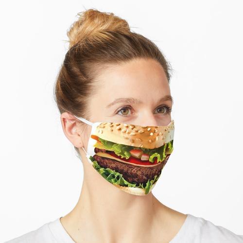 Rindfleischburger Hamburger Maske