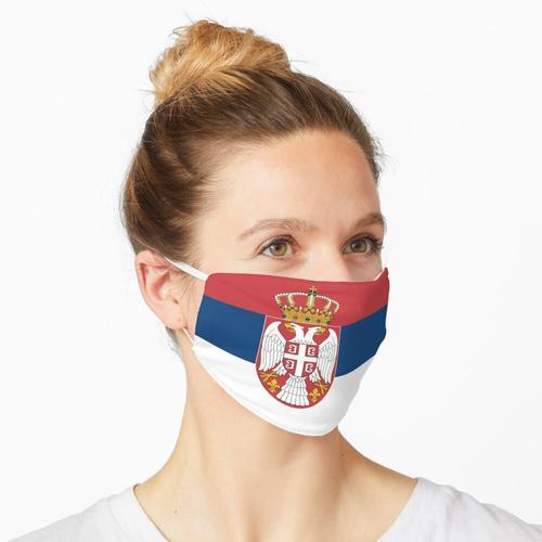 Serbien Fahne Flagge serbisch Belgrad Maske