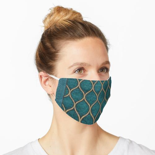 Texturen Stoff Stoff drucken abstrakte Muster blau grün Maske