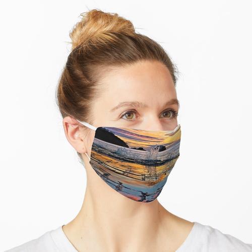 Sonnenaufgang über gepflasterten Pflaster Maske