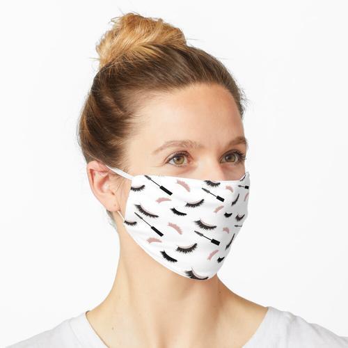 Wimpern und Mascara mit Rosen-Glitter-Muster Maske