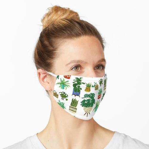 Moderne Keramik der Mitte des Jahrhunderts mit Pflanzen Maske