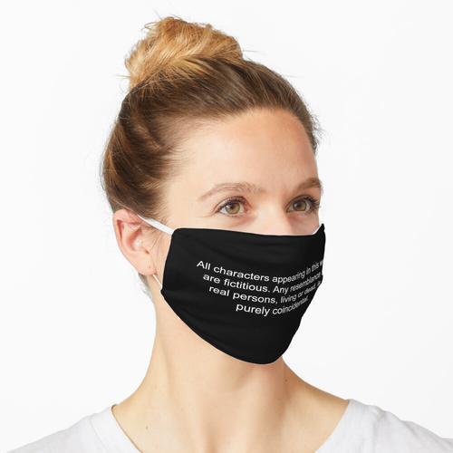 Haftungsausschluss Maske