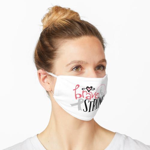 Starker Brustkrebs-Aufkleber Maske