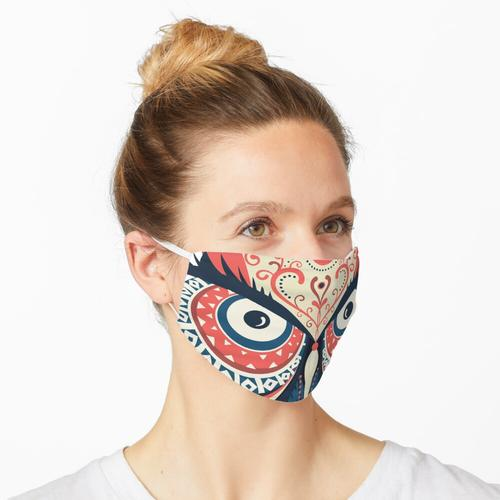 Verzierte Eule Maske