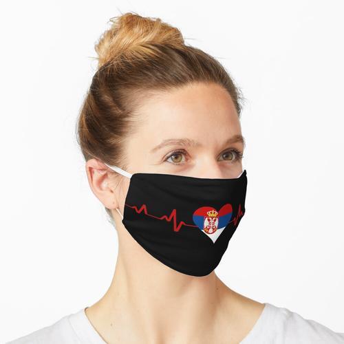 Serbien Fahne Maske