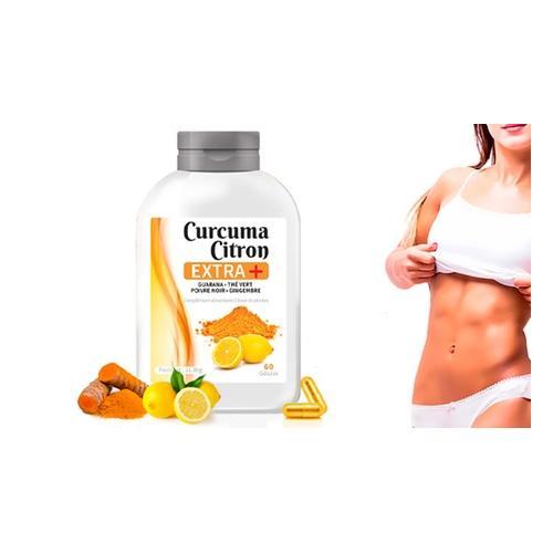 Kurkuma und Zitrone+ Kapseln: 120 Kapseln (2 Monate)