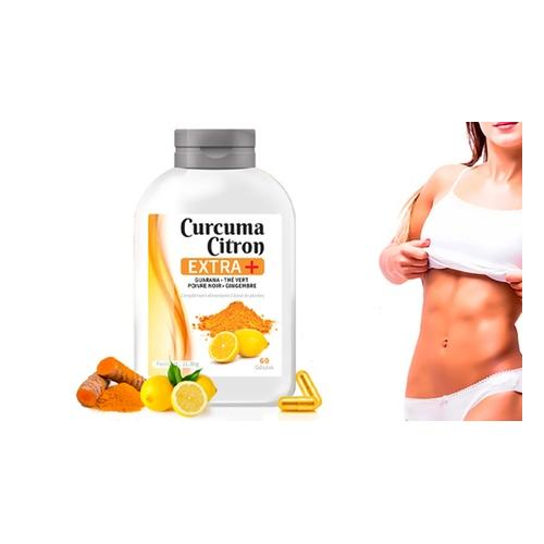 Kurkuma und Zitrone+ Kapseln: 240 Kapseln (4 Monate)
