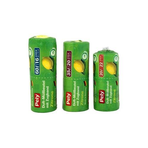 440x Pely Clean Zugband-Beutel mit Zitronenduft 20 l
