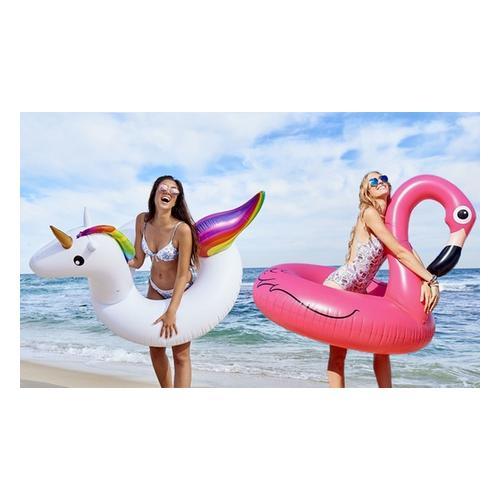 Großer Schwimmreifen: Flamingo und Einhorn/2