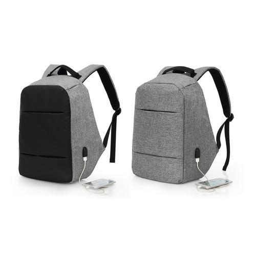 Anti-Diebstahl-Rucksack: Grau