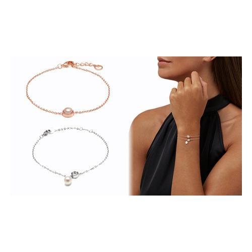 Damen-Armband: Roségold mit Süßwasserperle