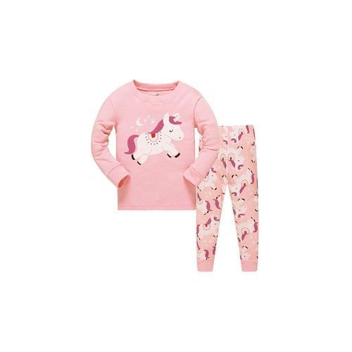 Mädchen-Pyjama mit Einhorn-Muster: 5-6