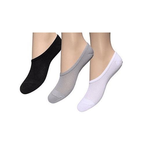 Damen-Füßlinge: Weiß / 3er-Pack