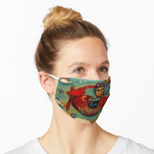 Kleine rote Ebene Maske