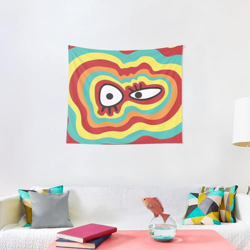 silly face Wall Tapestry