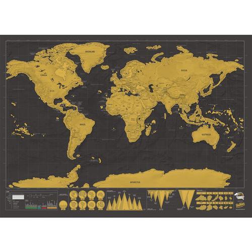 Rubbelkarte Welt, schwarz