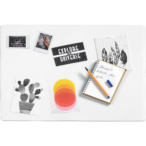 Befüllbare Schreibtischunterlage, transparent
