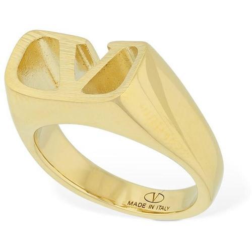 Valentino Garavani Quadratischer Ring Mit V-logo