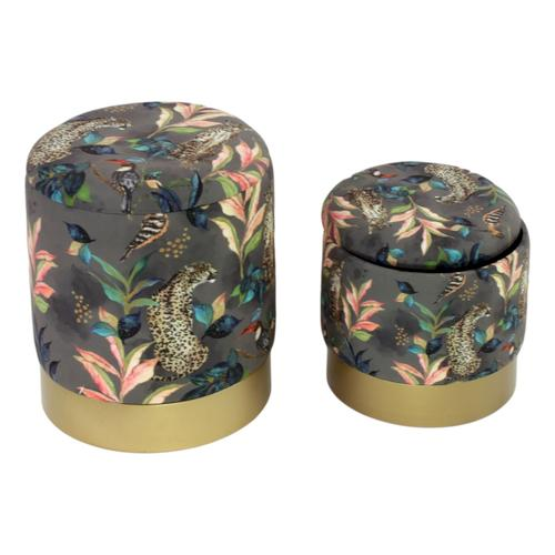 VOSS Design »Jungle« Pouf 2-tlg. Set Samt