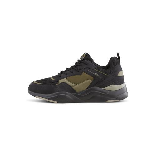 TOM TAILOR DENIM Herren Sneaker mit breiter Sohle, grün, Gr.43