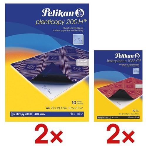 2x Durchschlagpapier »plenticopy 200 H®« inkl. 2x Kohlepapier »interplastic 1022, Pelikan