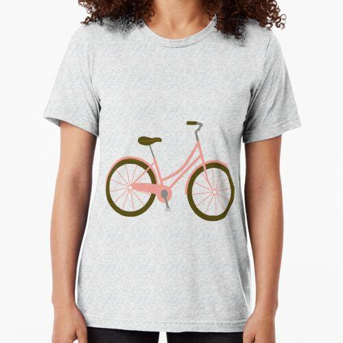 Niedliches Rosa Fahrrad im holländischen Stil Vintage T-Shirt