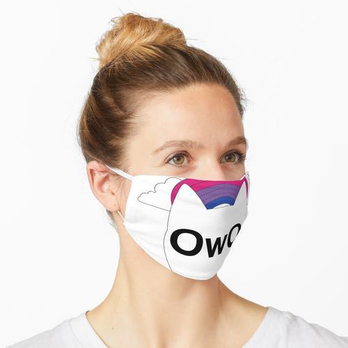 OwO Furry Bi Pride Maske