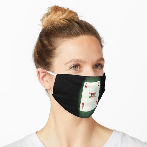 Verbranntes Herz-Ass Maske