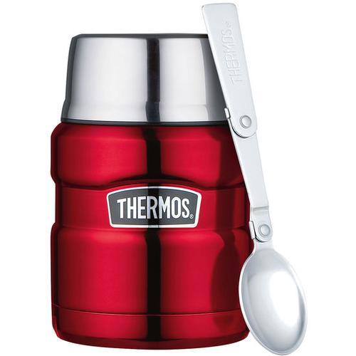 Thermobecher mit Löffel, rot