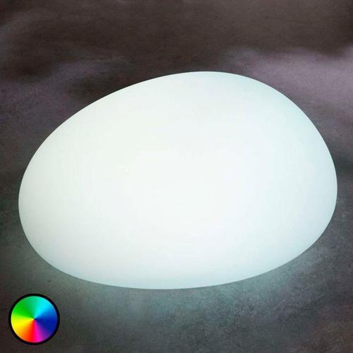 LED-Solarlampe Floriana, RGB-Farbwechsel, 22 cm