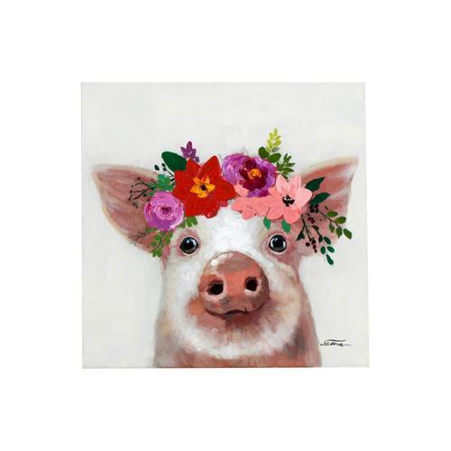 VOSS Design »Schweini» Bild handgemalt 50x50 cm