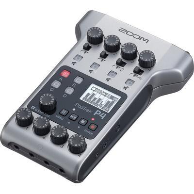 Zoom PODTRAK P4 Podcast recorder 4-mic inputs