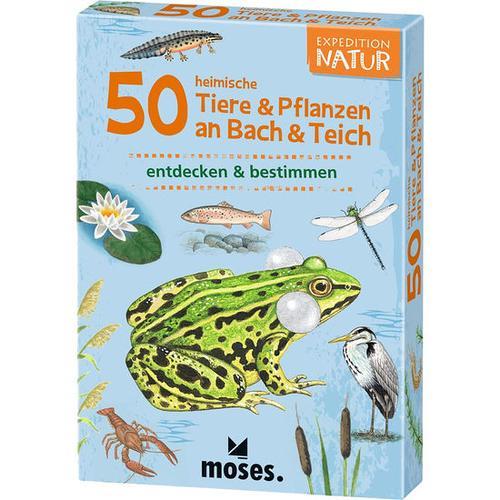 50 heimische Tiere & Pflanzen an Bach & Teich, bunt