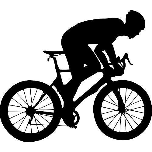 Wandtattoo Fahrrad Fahrer Mountainbike schwarz
