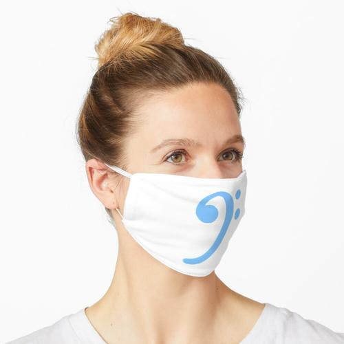 Bassschlüssel Blau Maske