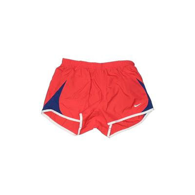 Nike Athletic Shorts: Red Solid ...