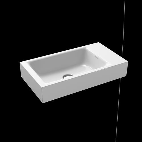 Kaldewei Puro Handwaschbecken B: 55 T: 30 cm, Becken links weiß, ohne Hahnloch 901206313001